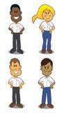 Karikatur-Service-Leute Stockfoto