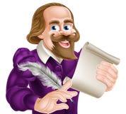 Karikatur Shakespeare Stockfotografie