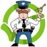 Karikatur-Sicherheitsbeamte Stockbild