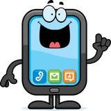 Karikatur-Smartphone-Idee Stockbilder