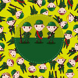 Karikatur-Soldatkarte Lizenzfreies Stockbild