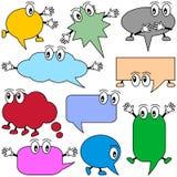 Karikatur-Sprache-Luftblasen Stockfotografie
