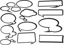 Karikatur-Sprache-Luftblasen-Ansammlung 1 Stockfotos