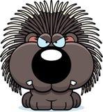 Karikatur-Stachelschwein verärgert Stockfoto