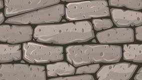 Karikatur-Steinwand, die sich endlos in Schleife bewegt lizenzfreie abbildung