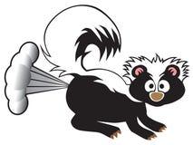 Karikatur-Stinktier-Sprühen vektor abbildung