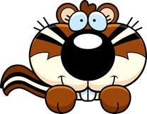 Karikatur-Streifenhörnchen-Spähen Stockfoto
