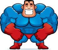 Karikatur-Superheld-Biegen Lizenzfreie Stockfotos
