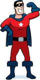 Karikatur-Superheld-Mann Stockfoto