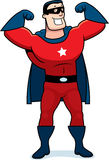 Karikatur-Superheld-Mann Lizenzfreies Stockbild