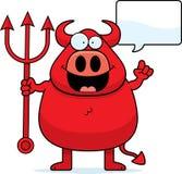 Karikatur-Teufel-Unterhaltung Lizenzfreies Stockbild