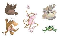Karikatur-Tiere Stockfoto