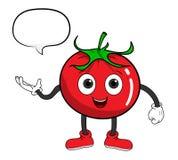 Karikatur-Tomate mit Text Lizenzfreie Stockfotos