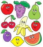 Karikatur trägt Ansammlung 1 Früchte Lizenzfreies Stockbild