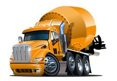 Karikatur-Transportmischer Stockfotos
