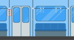 Karikatur-Untergrundbahn-Karten-Plakat Vektor lizenzfreie abbildung