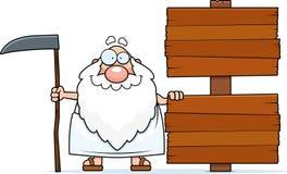 Karikatur-Vater Time Sign Lizenzfreies Stockfoto