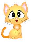 Karikatur-Vektor Cat Sitting Stockbild