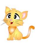 Karikatur-Vektor Cat Sitting Side View Lizenzfreie Stockbilder