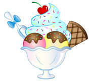 Karikatur-Vektor-Eiscreme-Eiscremebecher vektor abbildung