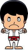 Karikatur-verärgerter Karate-Junge Lizenzfreies Stockfoto