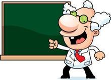 Karikatur-verrückter Wissenschaftler Chalkboard Lizenzfreie Stockfotografie
