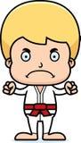 Karikatur-verärgerter Karate-Junge Lizenzfreies Stockbild