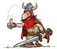 Karikatur-Viking-Krieger Lizenzfreie Stockfotos