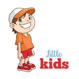 Karikatur von glücklichen Kleinkindern, Vektorillustration Lizenzfreie Stockfotos