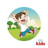 Karikatur von glücklichen Kleinkindern, Vektorillustration Stockfoto
