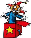Karikatur von Jack In The Box Stockbilder