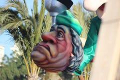 Karikatur von Muammar Gaddafi - Karneval von Nizza lizenzfreies stockbild