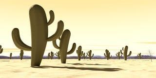 Karikatur-Wüsten-Szene Stockfoto