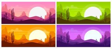 Karikatur-Wüstenlandschaft