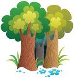 Karikatur-Wald Stockfoto