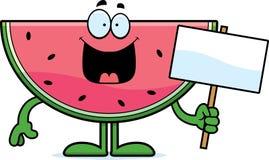 Karikatur-Wassermelonen-Zeichen Stockfoto