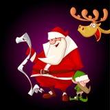 Karikatur-Weihnachtscharaktere Lizenzfreie Stockbilder