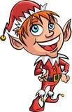 Karikatur-Weihnachtselfe Lizenzfreies Stockfoto