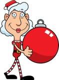 Karikatur-Weihnachtselfen-Verzierung Stockbilder