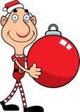Karikatur-Weihnachtselfen-Verzierung Stockbild