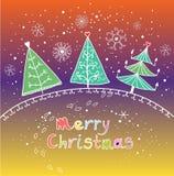 Karikatur-Weihnachtshintergrund Stockfoto
