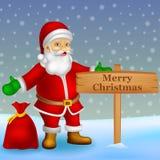 Karikatur Weihnachtsmann mit Hintergrund vektor abbildung