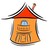Karikatur wenig Haus. eps10 Lizenzfreies Stockfoto