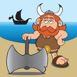 Karikatur Wikinger Lizenzfreies Stockbild