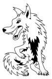 Karikatur-Wolf Lizenzfreie Stockfotos
