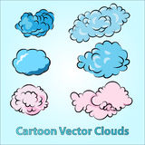 Karikatur-Wolken eingestellt lizenzfreie abbildung