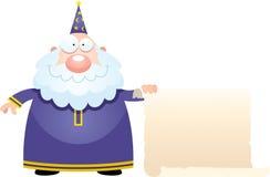 Karikatur-Zauberer-Zeichen Stockfoto