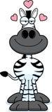 Karikatur-Zebra-Liebe Stockfotografie