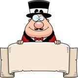 Karikatur-Zirkus-Zirkusdirektor-Fahne Stockfotografie