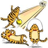 Karikaturabbildung der roten Katzen Stockfoto